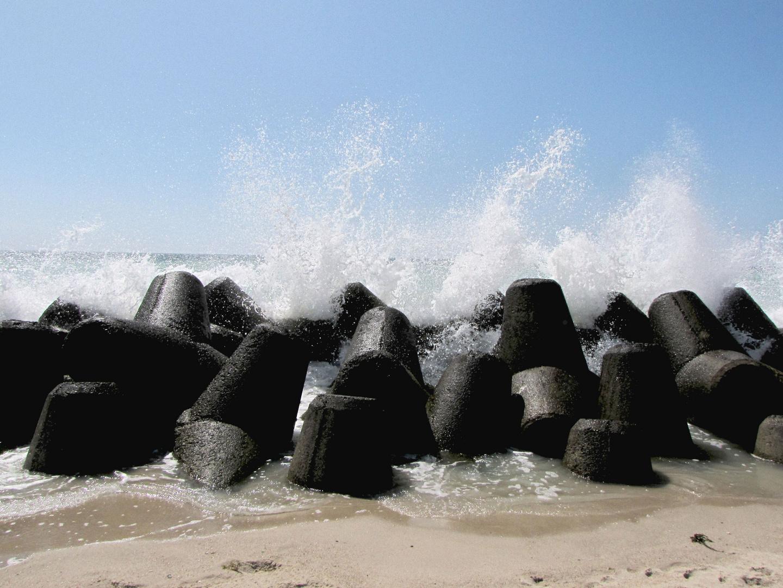 Tetrapoden am Hörnumer Strand