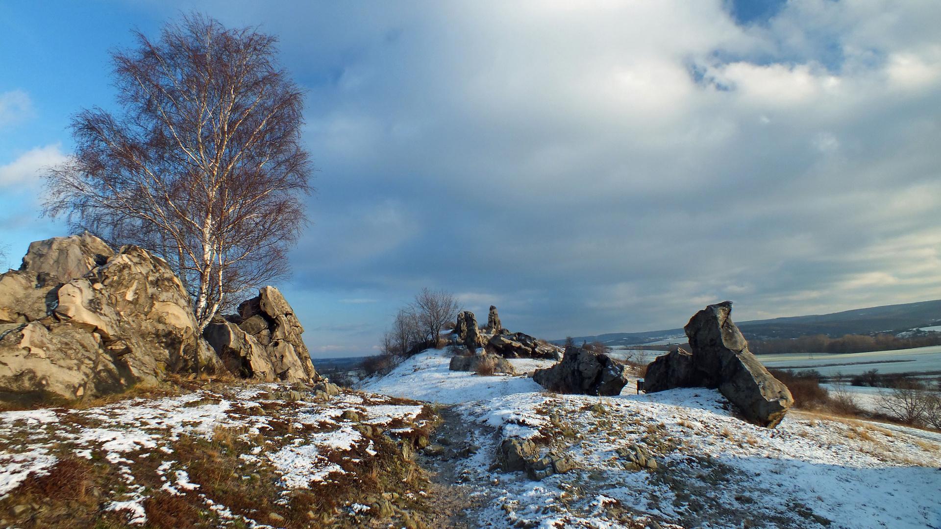 Teufelsmauer im Winter