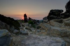 Teufelsmauer  -sunset- HDR hell