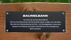 Text der Baumelbank