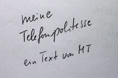 TEXT: KAFKAs TELEFON POLITESSE vonMT