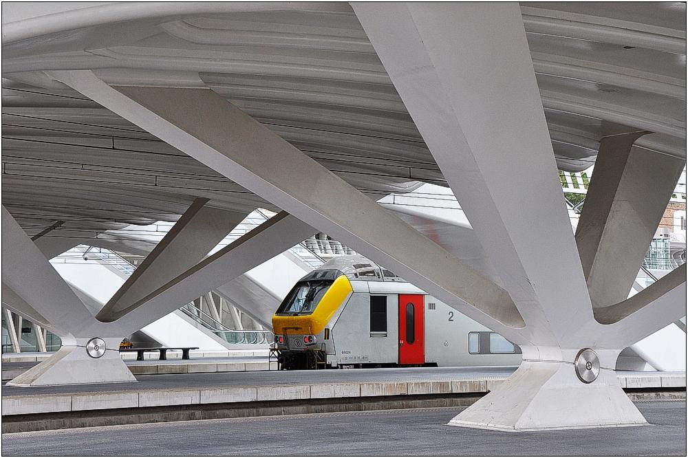TGV-Bahnhof Liège-Guillemins 4 in Belgien