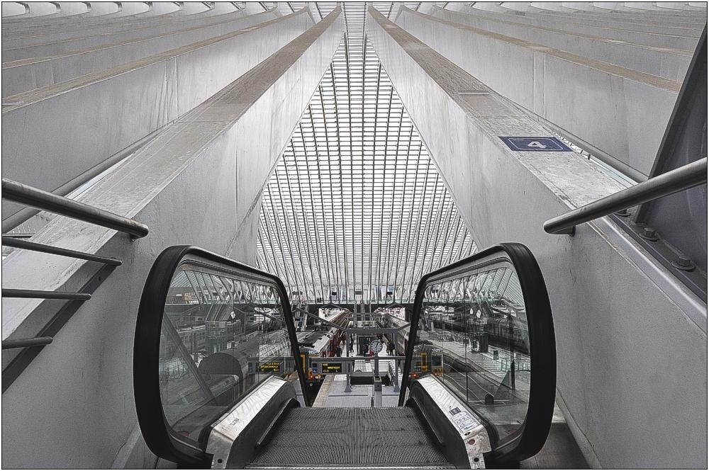 TGV-Bahnhof Liège-Guillemins 5 in Belgien