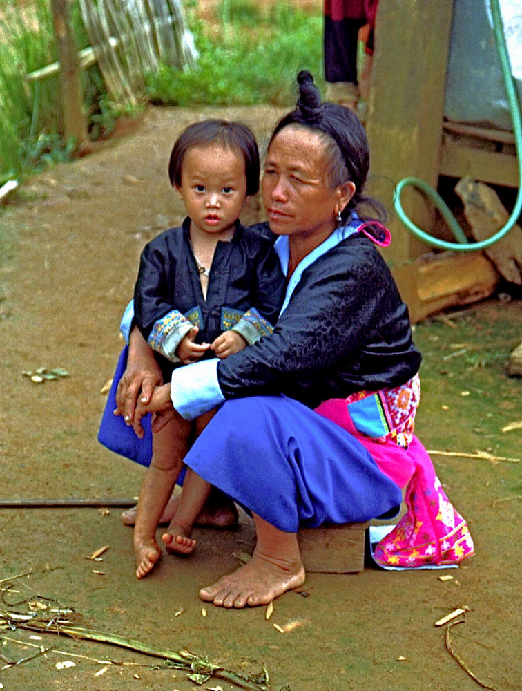 Thai Woman and Child