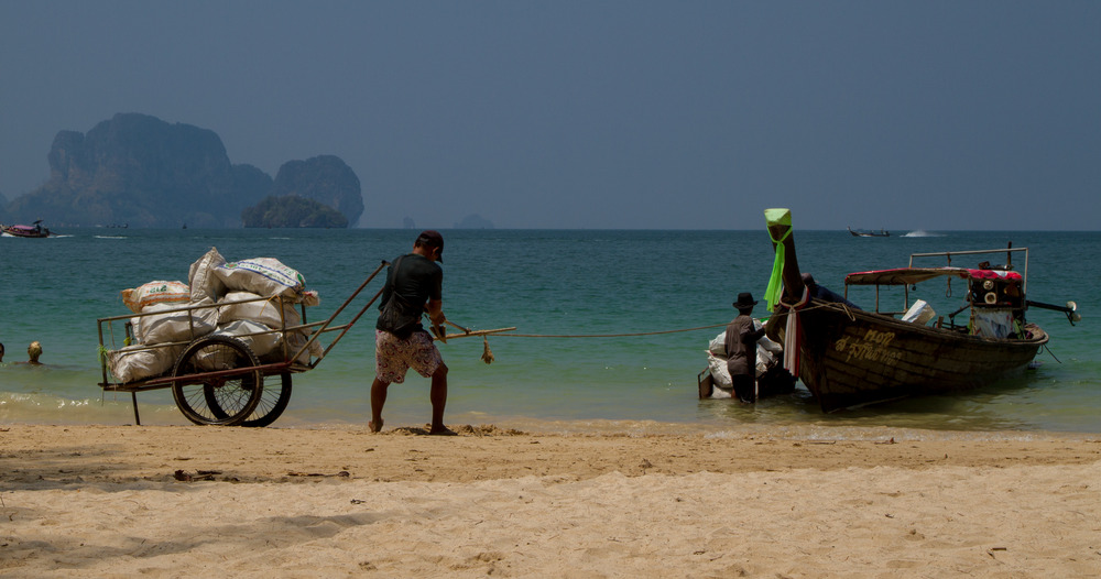 Thailändische Insel Müllabfuhr