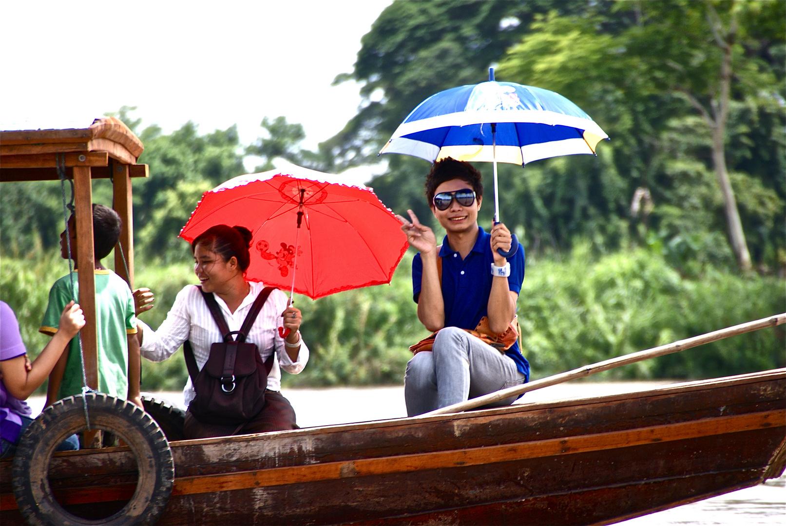 thailändische wochenendtouristen II, südlaos 2010