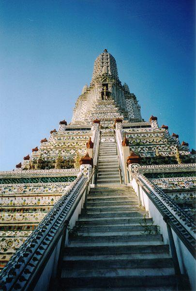 Thailand - Bangkok / Wat Arun Treppe detail