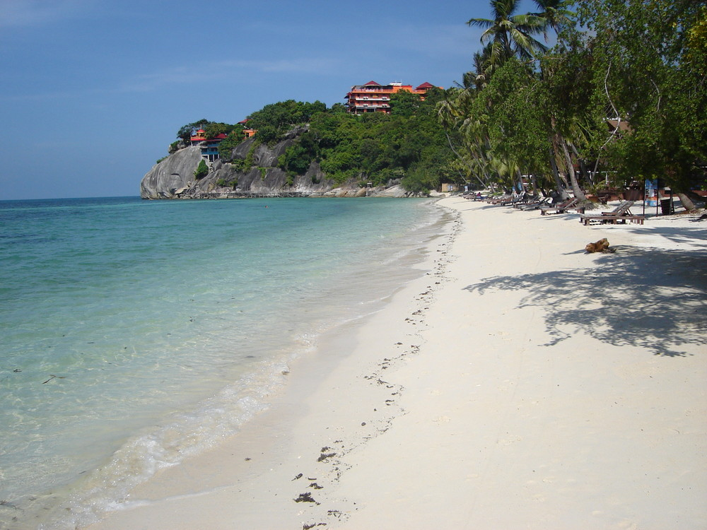 Thailand Ko Phangan Lagune Strand cocohut groove leela beach 2