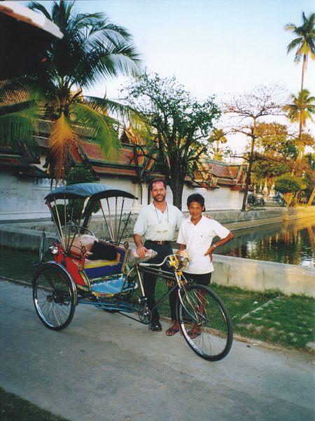 Thailand - Petchaburi / freundlich Öko-taxi und Ruhe