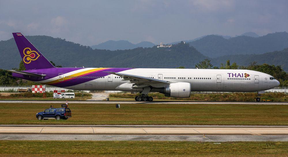 Thailands Airport im Tal