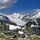 The Aletsch Glacier in b/w
