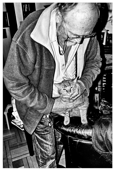 - the artist and his cat situation -