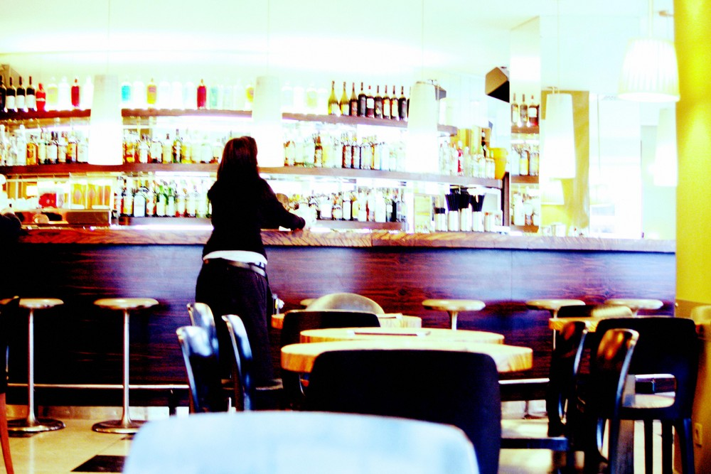 the bar and the girl