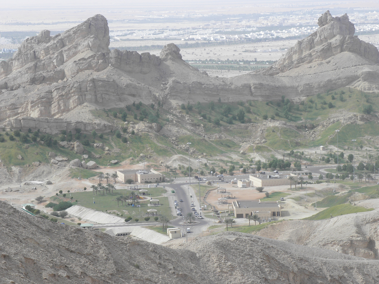the beauty of al Ain City - Mountains and green vallies