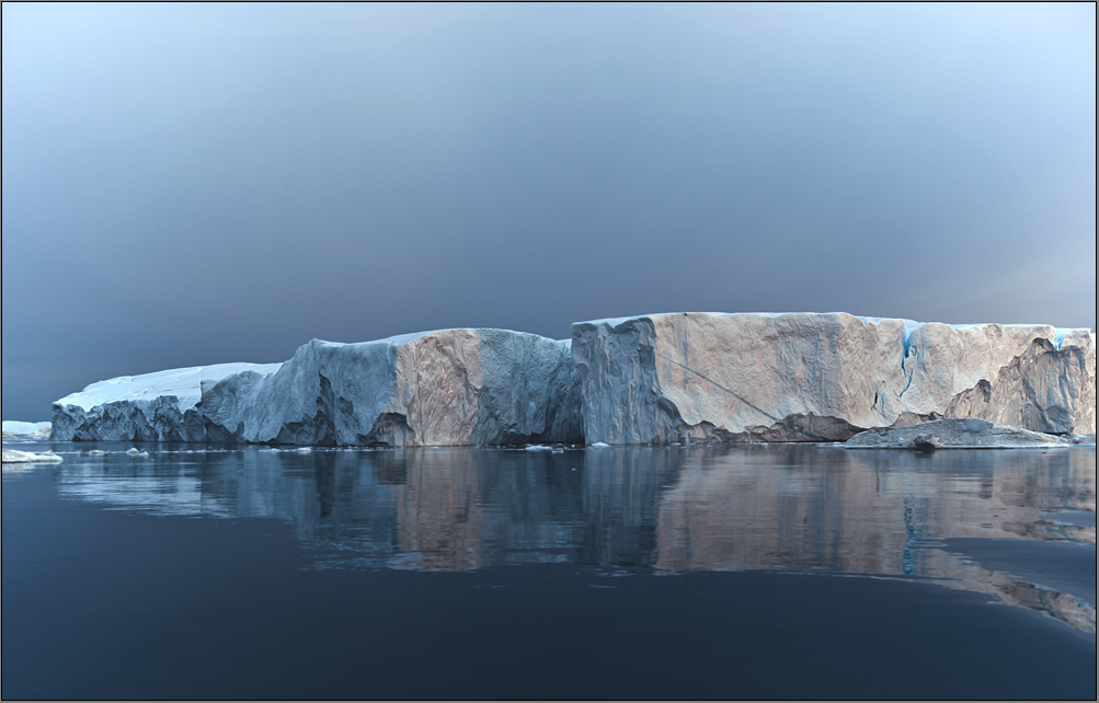 the beauty of these drifting icebergs