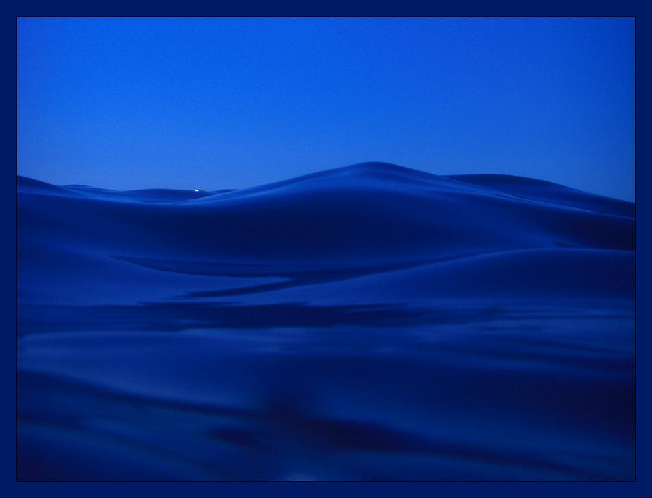 The blue black sea...