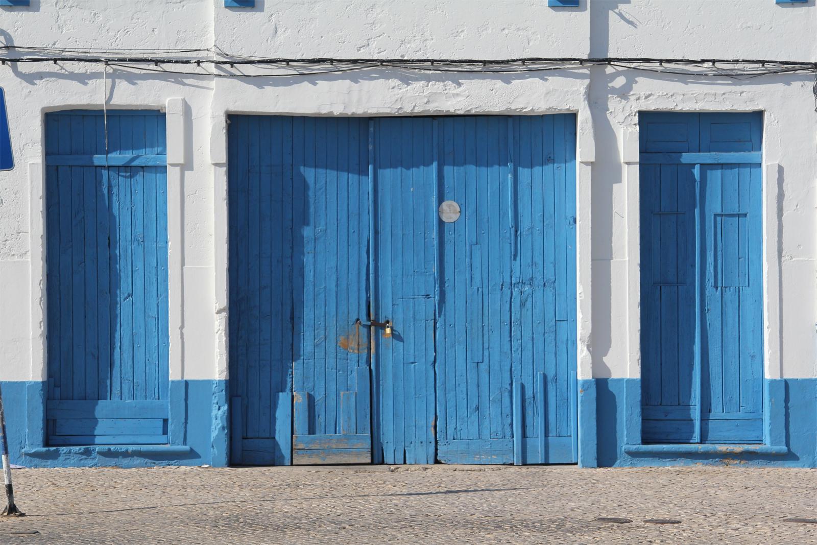 """The Blue Doors in Olhão"""