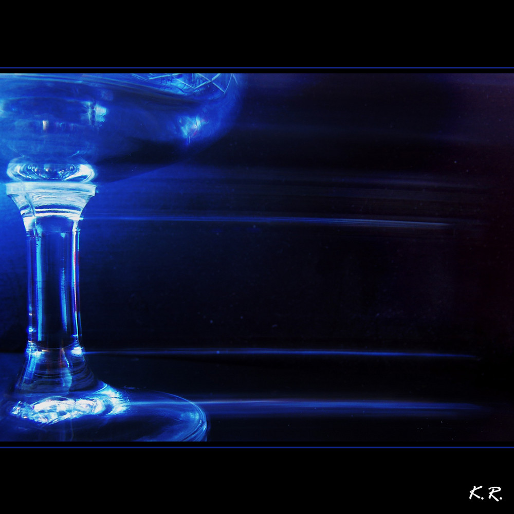 the blue glass