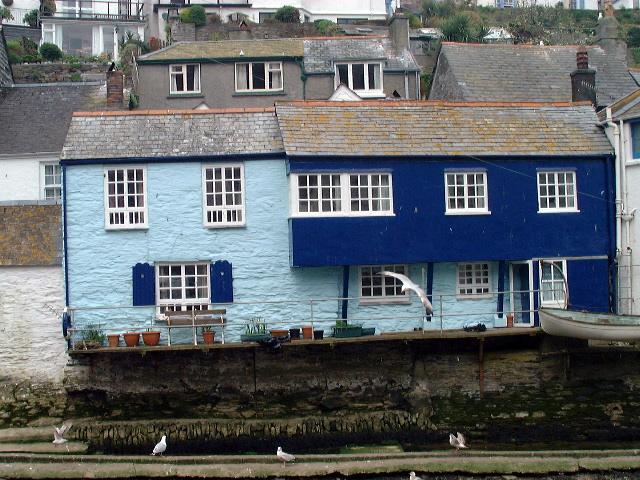 The blue house at Polperro, Cornwall