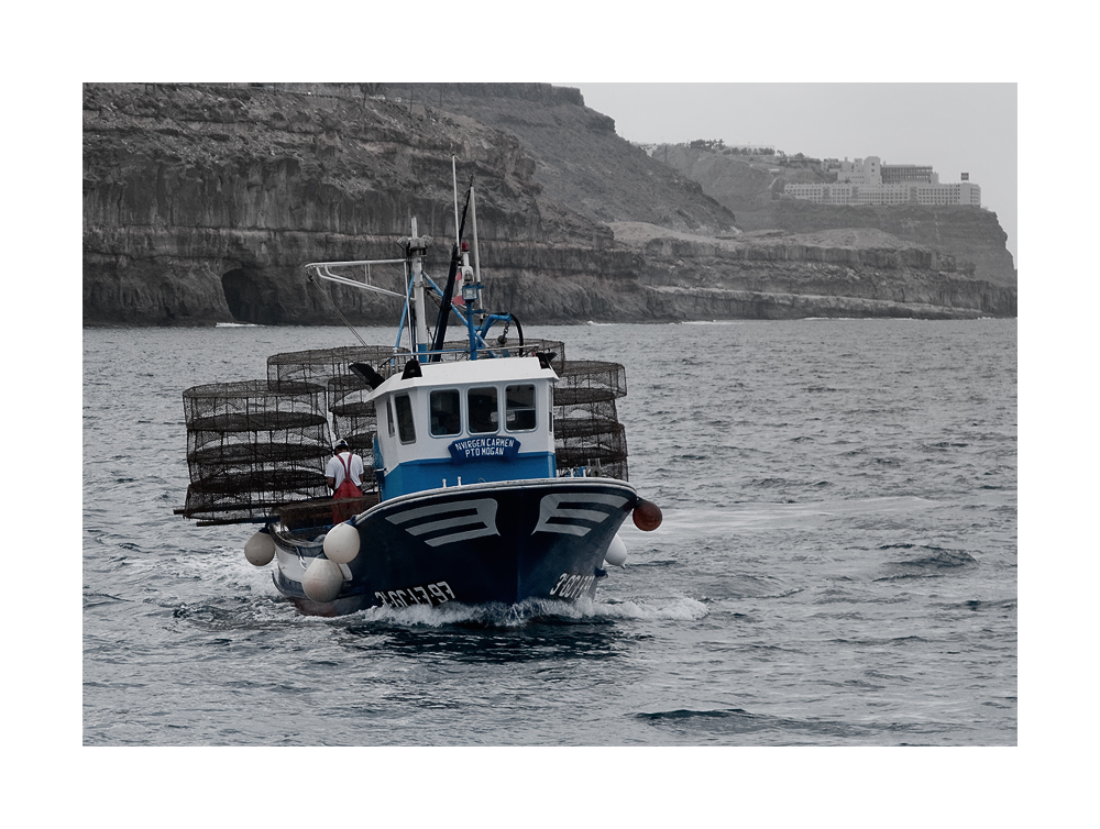 The boat, the man and the sea