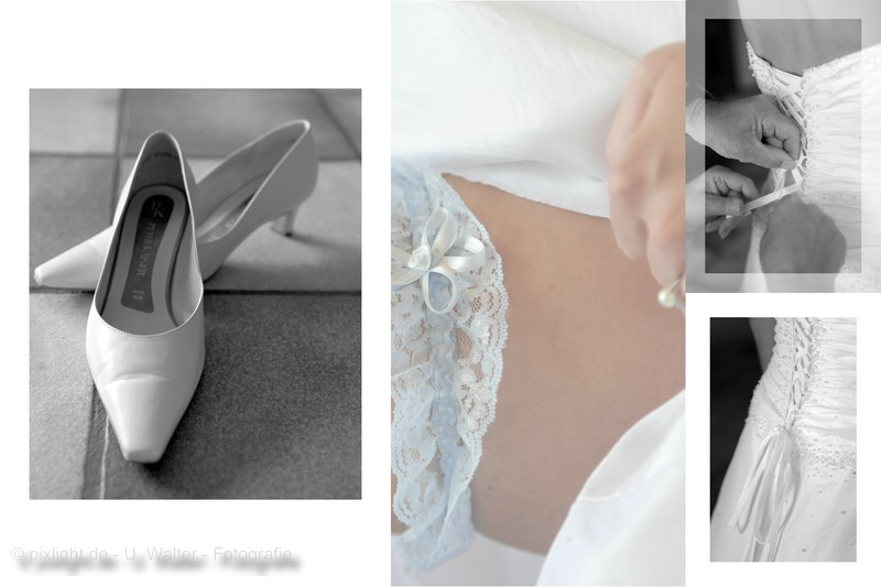 The bride is getting prepared...