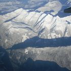 The Canadian Rockies from 37,000 feet
