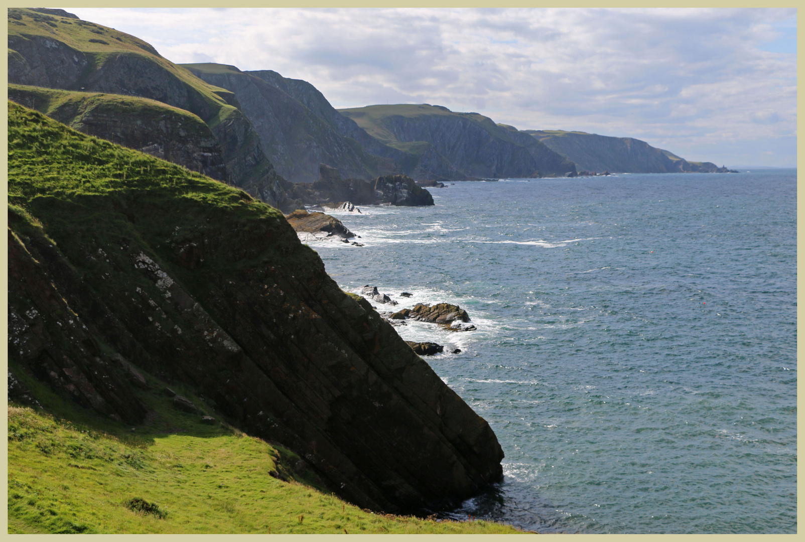 the cliffs north of st abbs