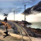 The Climb to Bernina Pass in Morning Fog