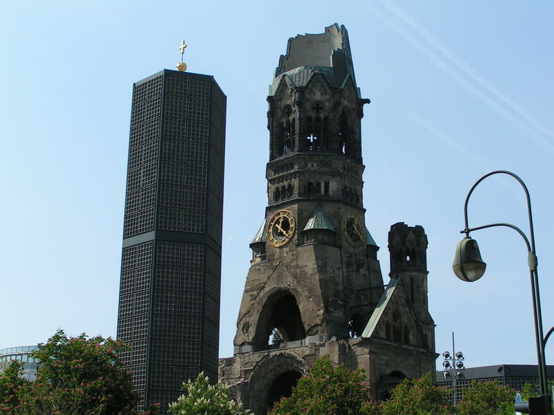 The damaged tower