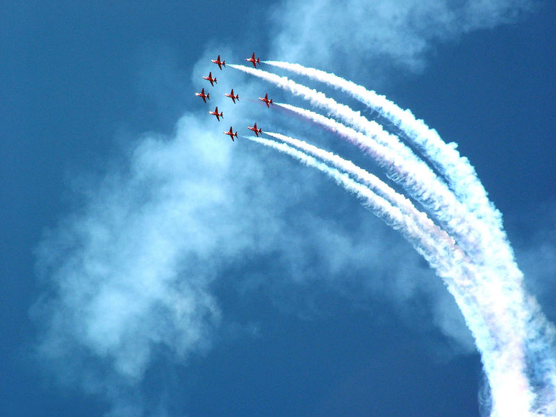 The Famous Red Arrows at Maritime Festival