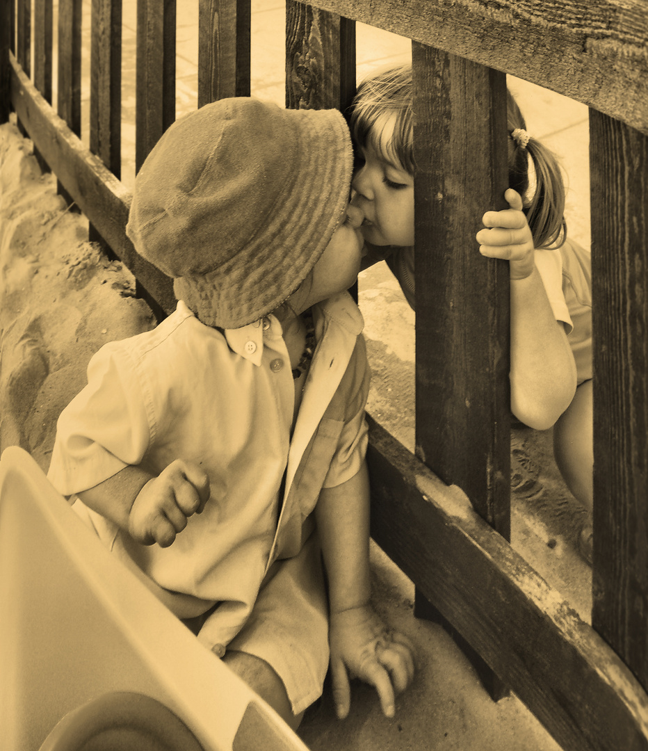the first kiss (postcard)