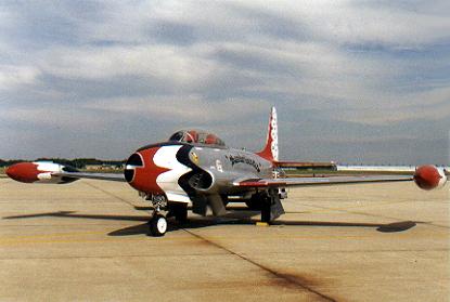 The first USAF Thunderbird demonstration team aircraft