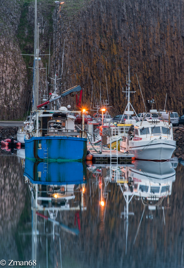 The Fishing Harbour of Stykkisholmur.