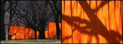 The Gates  Central Park Leichtigkeit im Wind