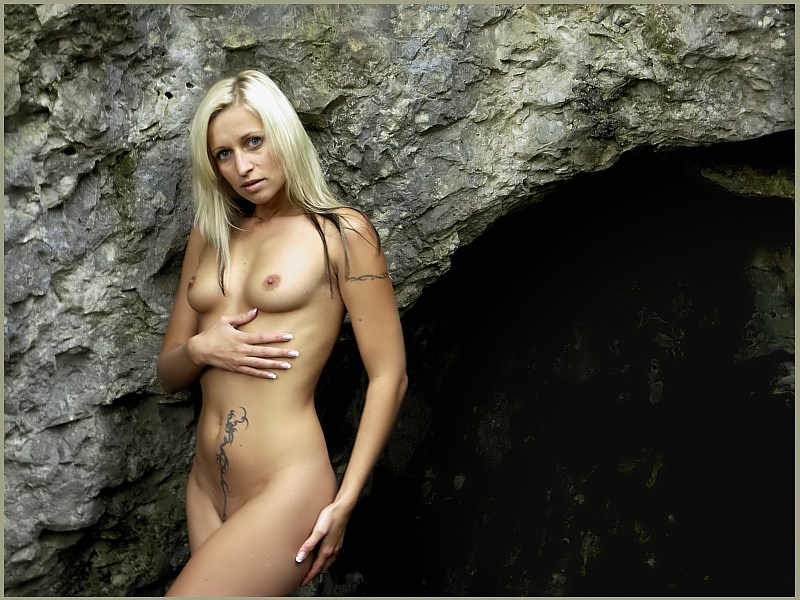 the girl and the cave