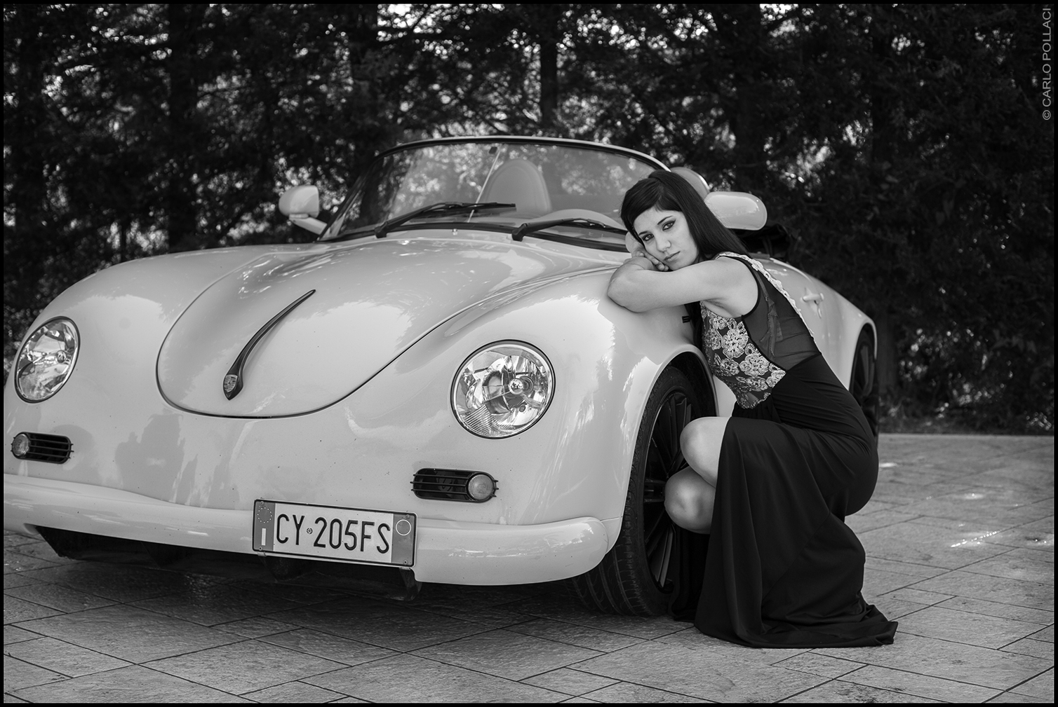 The girl with the Porsche
