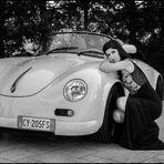 The girl with the Porsche
