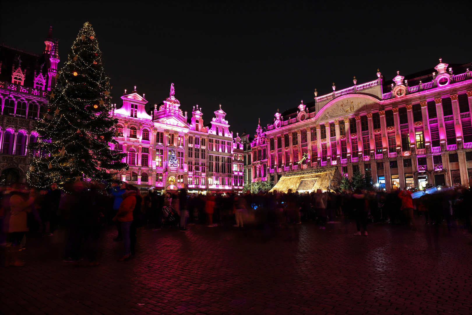The Grand Place in Pink