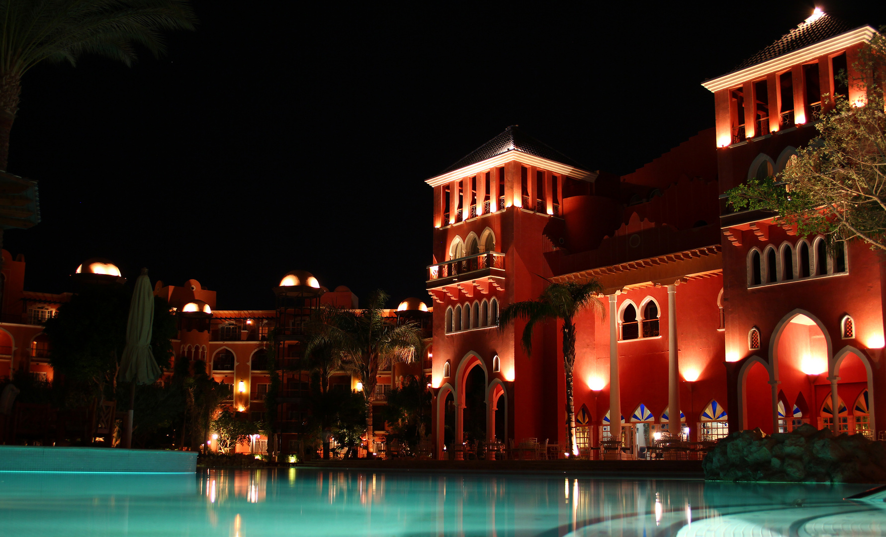 """The Grand Resort in Hurghada by night"""