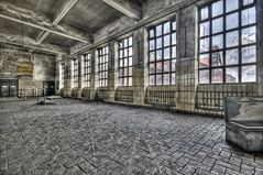 the hall before going underground