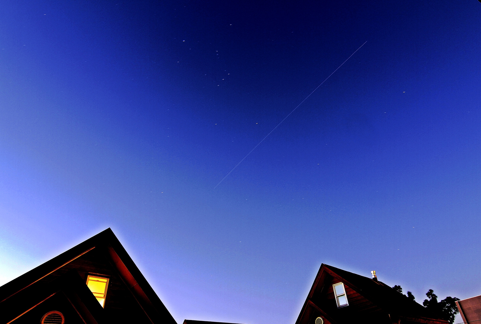 The ISS is that thin line on the sky..It took 75 secs in BULB Iso 100 F.13 lens 10mm