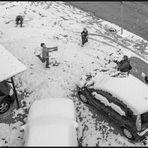 The joy of snowball fight