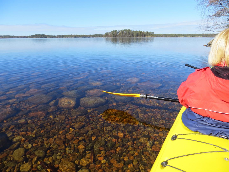 The kajak on the lake