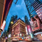 """""""The Knickerbocker Hotel"""" at Time Square (colors)"""