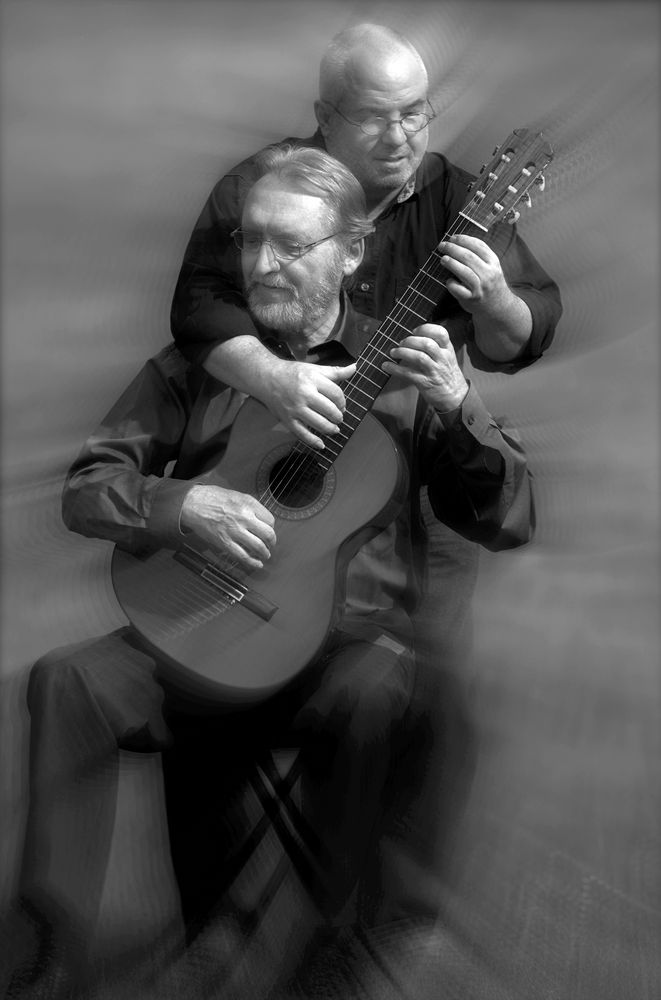 """ the kranichstein guitar duo"", darmstadt, germany ( promotional photograph )"