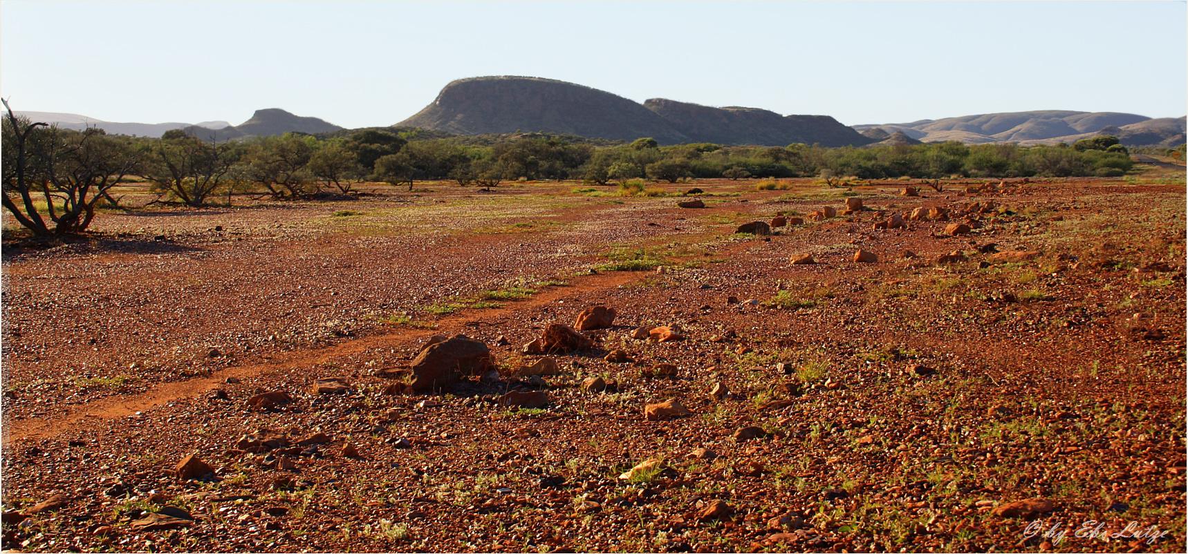 ** The Landscape of the Pilbara / Iron Ore Deposit of Australia **