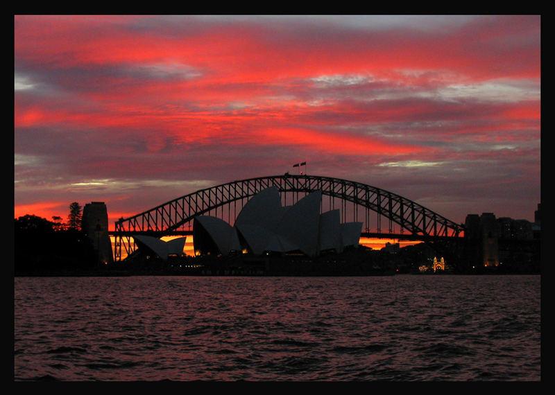 The last evening in Sydney