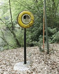 The lifebuoy that has long been out of work