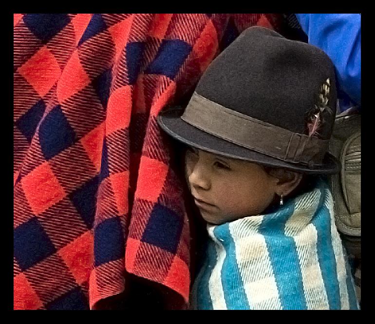 The little girl from Ingapirca