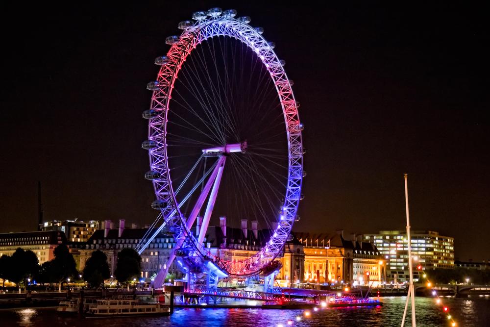 The London Eye celebrates Olympic Handover